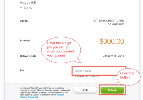 How To Pay Your Credit Card Bill With Bluebird