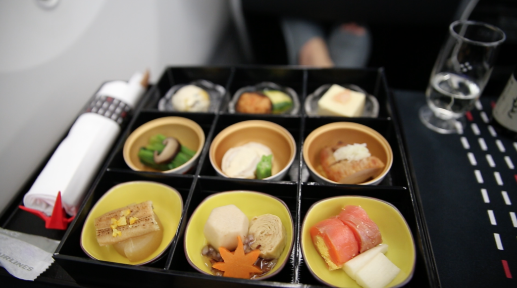 JAL Appetizer on Mileage Run