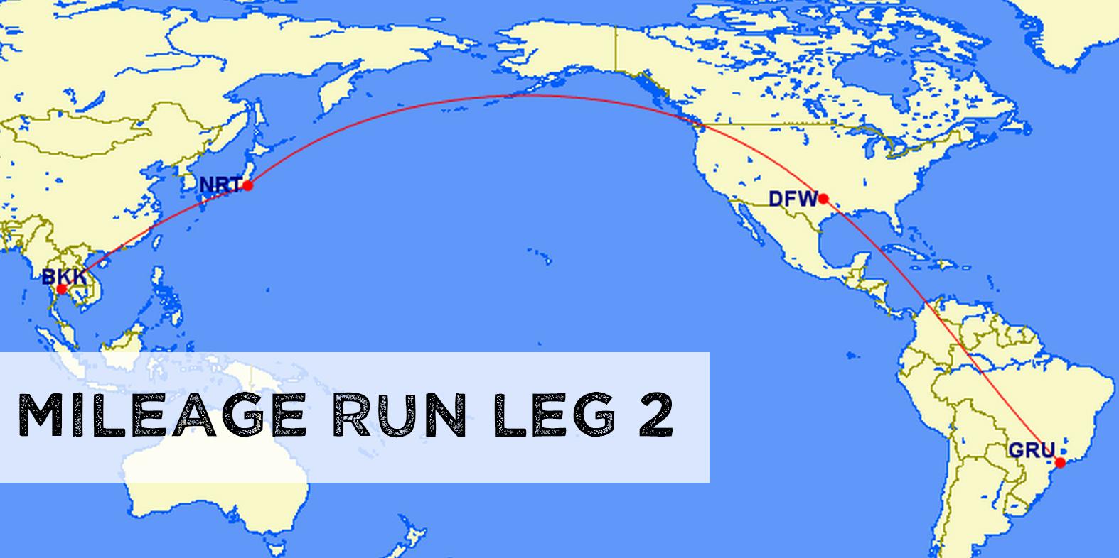 Mileage Run Leg 2 – BKK – GRU