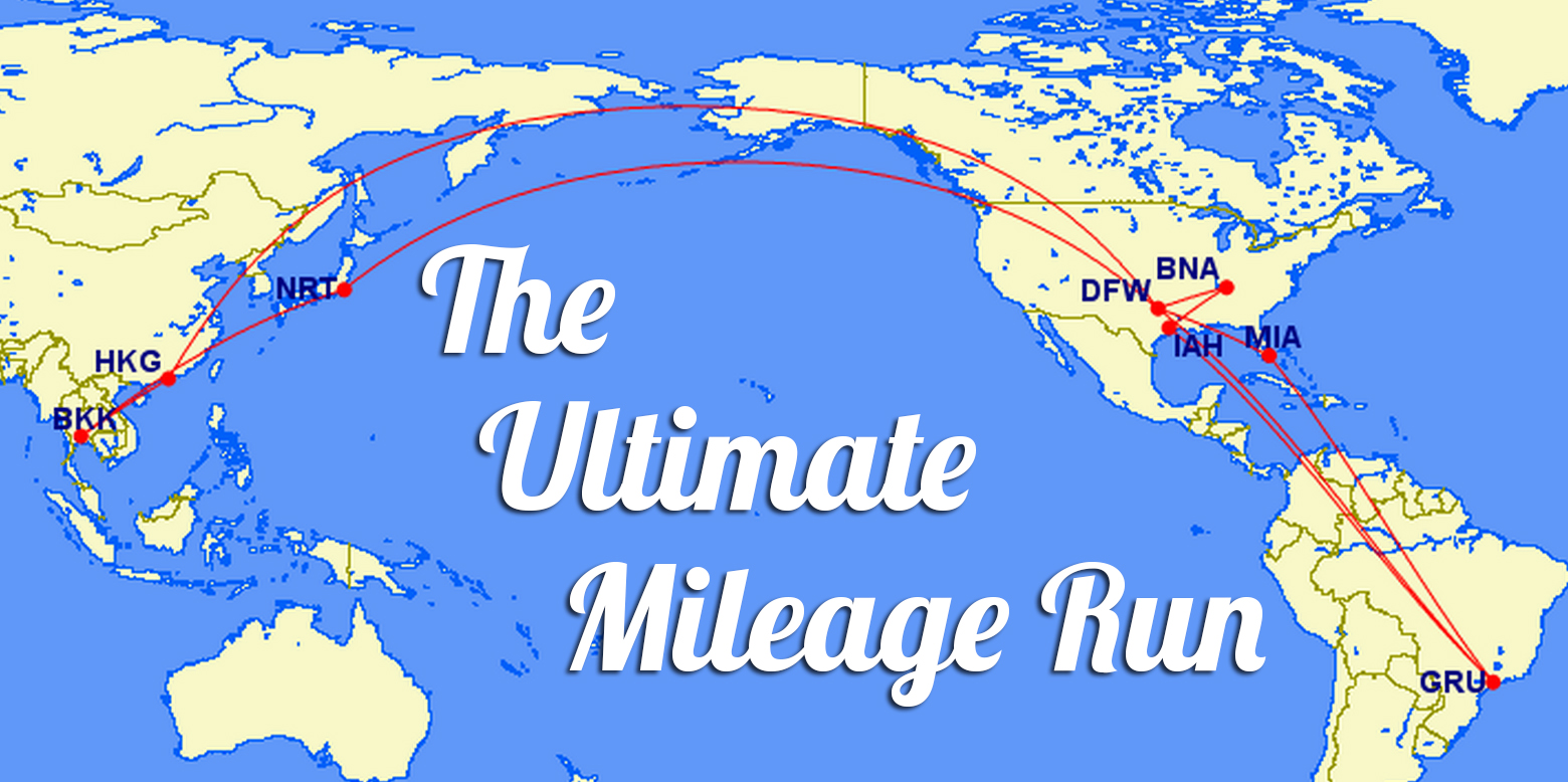 The Ultimate Mileage Run – Flying over 92,000 Miles in 2 Weeks